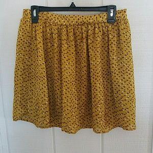 Mossimo Mustard Yellow skirt